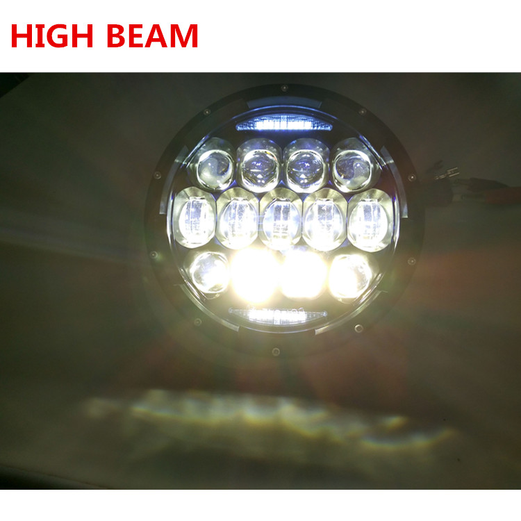 LOYO 10000lm 130W 7 inch round headlight with turning light for jeep wrangler headlight