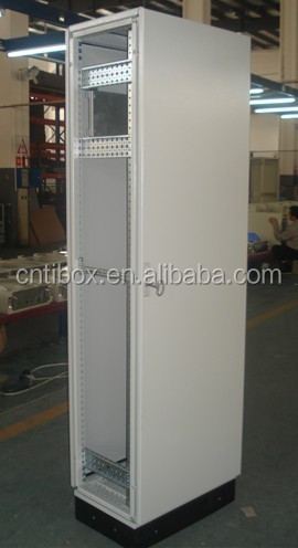 Floor standing Electrical power distribution control panel fiber optic distribution frame