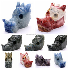 Craved hand carved crystal skulls gems craved dragon skulls