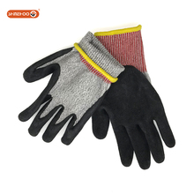 SHINEHOO HPPE Anit Cut Resistant Palm Coated Work Gloves