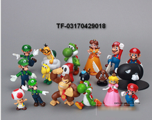Plastic Super Mario PVC Action figures Toys Dolls