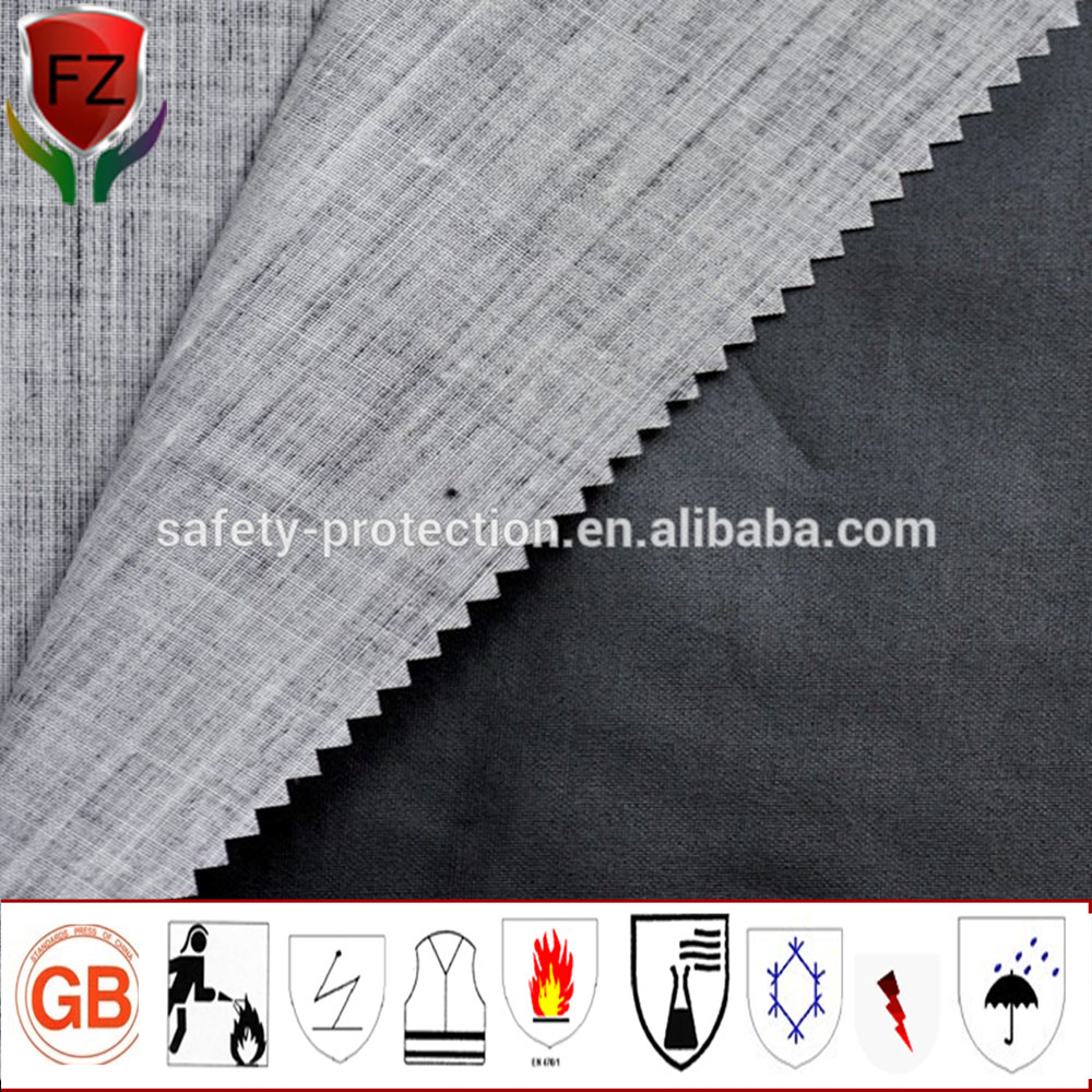Plain style 100% meta aramid flame retardant fabric for fire proof suit and glove
