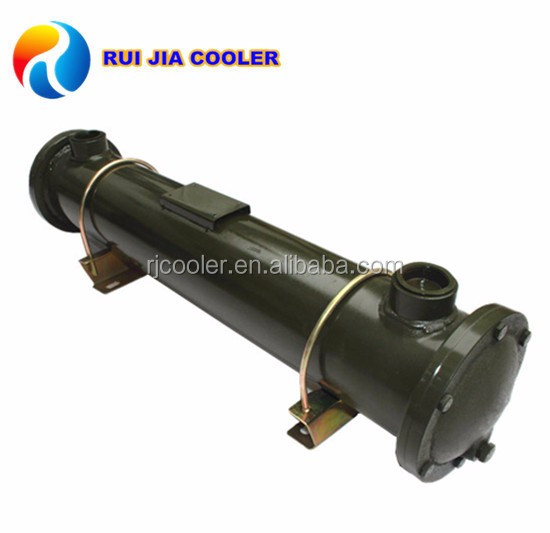 Textile machinery tube water to shell oil/gas/air heat exchanger
