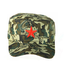 hot sale chino personalized flat five-pointed star chinese red army cap hat