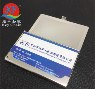 Promotion Custom Aluminium Mini Business Name metal playing card case