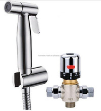 high quality SUS hand held toilet bidet shower sprayer with Thermostatic Mixer Valve