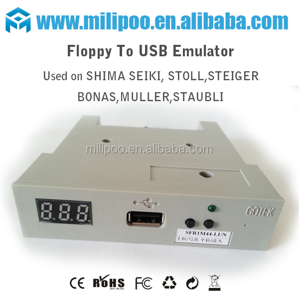 FUSB floppy to usb emulator for Tajima,Happy,Brother,Barudan,SWF,ZSK embroidery machine