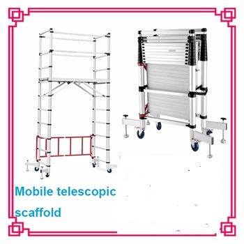 factory price aluminum used scaffold with wheels china supplier