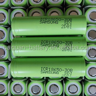 Hot sale Samsung 18650 3.7V 3000mAh with High capacity icr 18650 3.7V samsung 18650 30B,Samsung icr18650-30a 18650 3000mah