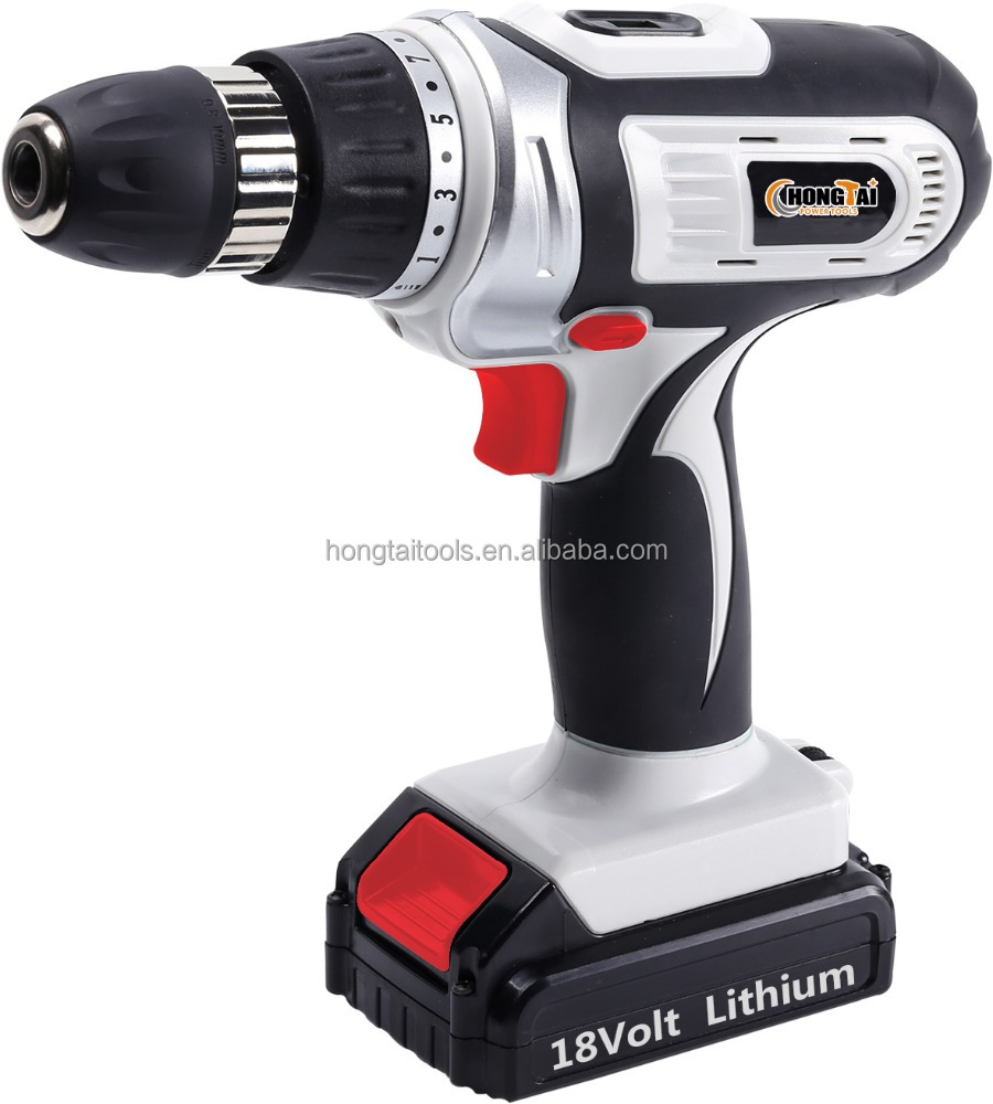 18V lithium cordless <strong>drill</strong> with LED working light and good quality