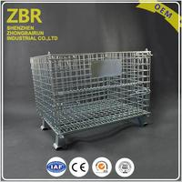 Wire mesh quail cage wire mesh cages metal pallet container