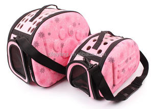 China supplier factory Luxury travel eva pet carrier bag, foldable portable dog cat fabric bag/cage