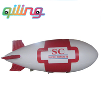 {Qi Ling} New 5m Inflatable PVC Blimp / Airship / Airplane / Helium Balloon / Advertising inflatables