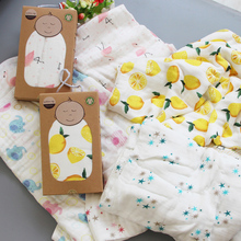 Baby organic bamboo cotton muslin swaddle blanket extra soft