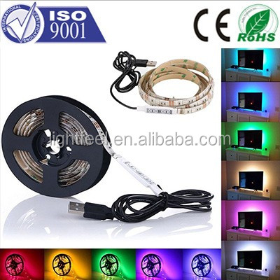 USB Cable Aluminum led lighting profile of strip smd 5050 rgb led strip 5v controller / dimmer for single color