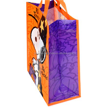 Recycled customized non woven fabric Snoopy shopping bag