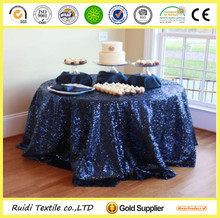 decorative polyester sequin party table cloth