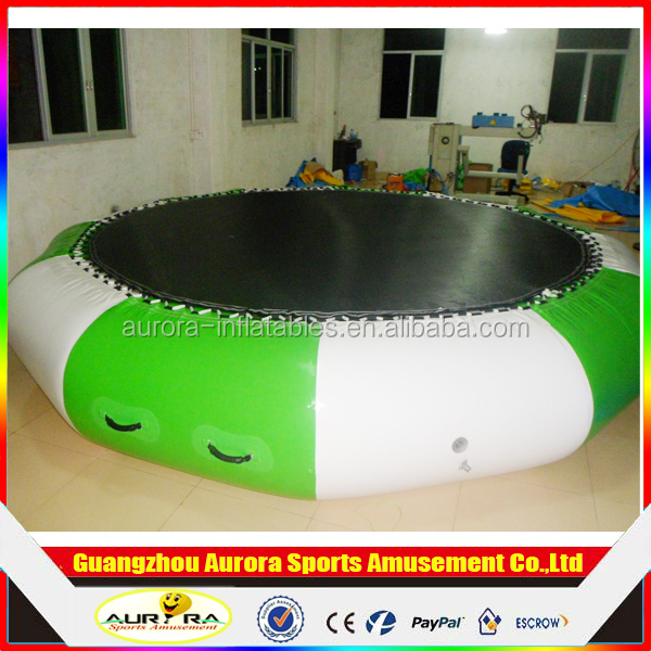 Trampoline jumping bed Giant Inflatable Water Sport Games water jumping bed/commercial inflatable water trampoline