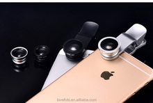 Camera lens Selfie Lens 3 in 1 for Cell Phone for Iphone 6S ,6+ 10mm 180degrees fisheye lens