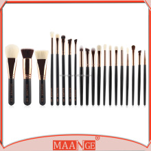 MAANGE 20pcs OEM rose gold wooden private label makeup brush set