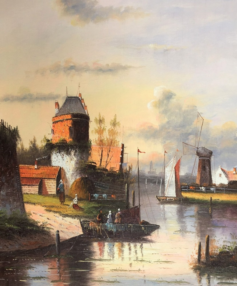 Wholesale product landscape oil painting reproduction from china