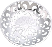 Hot sale home decration plastic silver serving tray