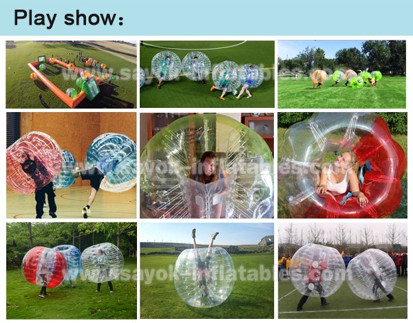 outdoor body bubble ball inflatable bubble football loopy ball suit