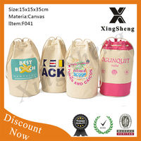 Wholesale high quality foldable New design reusable waterproof drawstring bag cotton