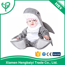 2017 Newest Halloween Baby Infant Shark costume for 6montns to 24months old Baby