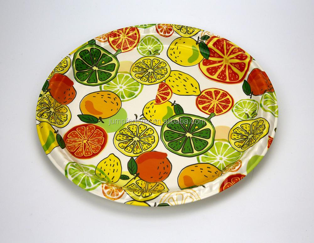 Hotsale Custom Promotion Gift Plastic Round Chritmas Design Plastic Fruit Tray/Dishes