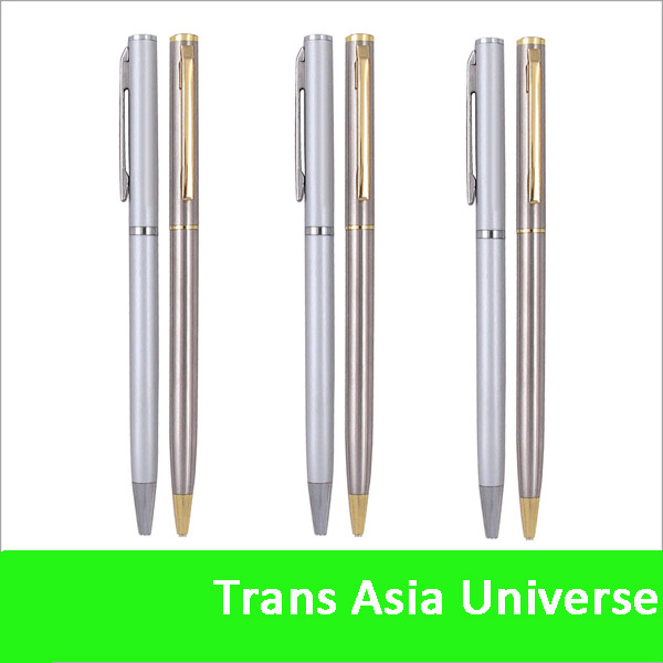 Hot Sale Custom cheap promotional slim pen gold