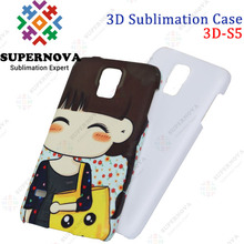 Sublimation 3D Blank Phone Cover for Samsung Galaxy S5