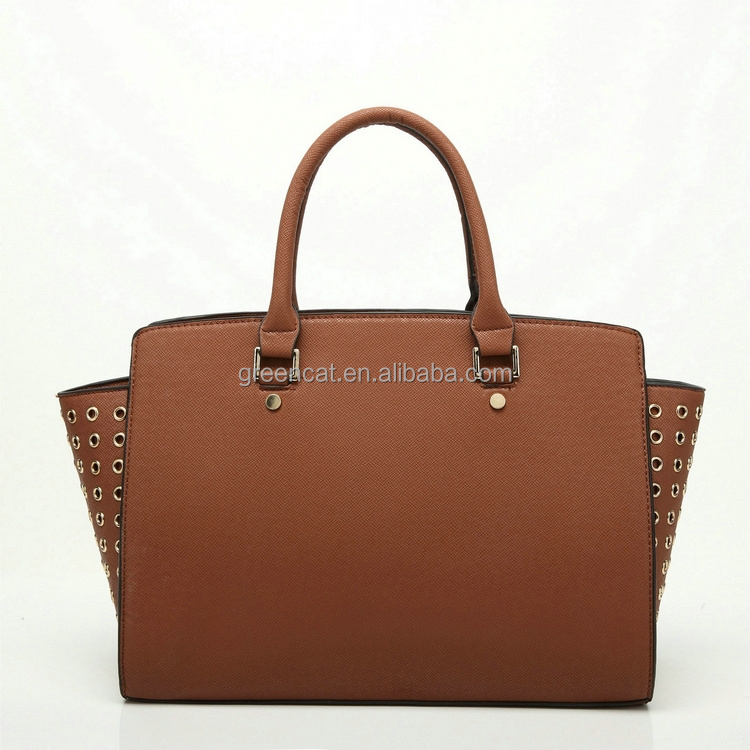 special China real leather high quality plain PU leather original designer no name celebrity handbags G38-2HB