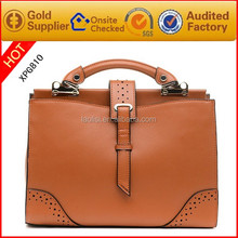 Fashion brown high quality handbags ladies 2016 women bags
