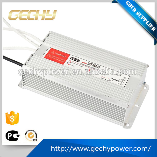 250W 12V led driver constant voltage waterproof switch power supply with Universal AC input range