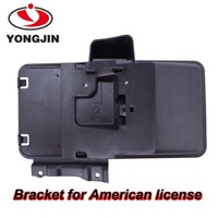 Hot sale mobile accessories blacke stainless steel license bracket for American car
