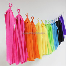 Bright Color Tissue Paper Tassel Garland