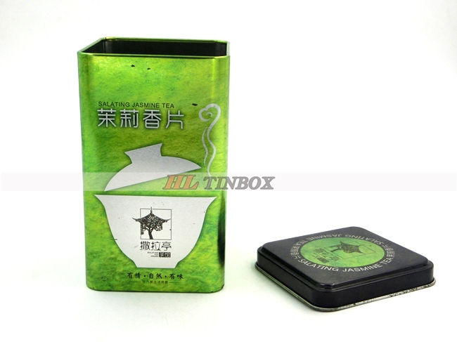 Vintage High Quality Printing Square Tea Coffee Tin Cans