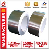 Opaque Strong adhesion Peel strength Waterproof Aluminum Foil Butyl Rubber Tape in china