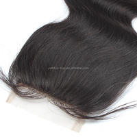Brazilian Virgin Hair Natural Color Body Wave Human Hair Lace Closure Pieces