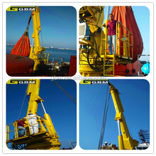 Hot sale 2t 30m Used Small size Offshore Hydraulic telescopic folding arm marine cranes for sale with BV CCS ABS Certification