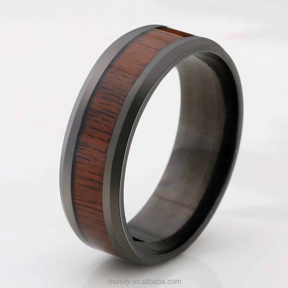 2016 New Tungsten Steel Wood Ring Factory Wholesale Ring Cool Ring