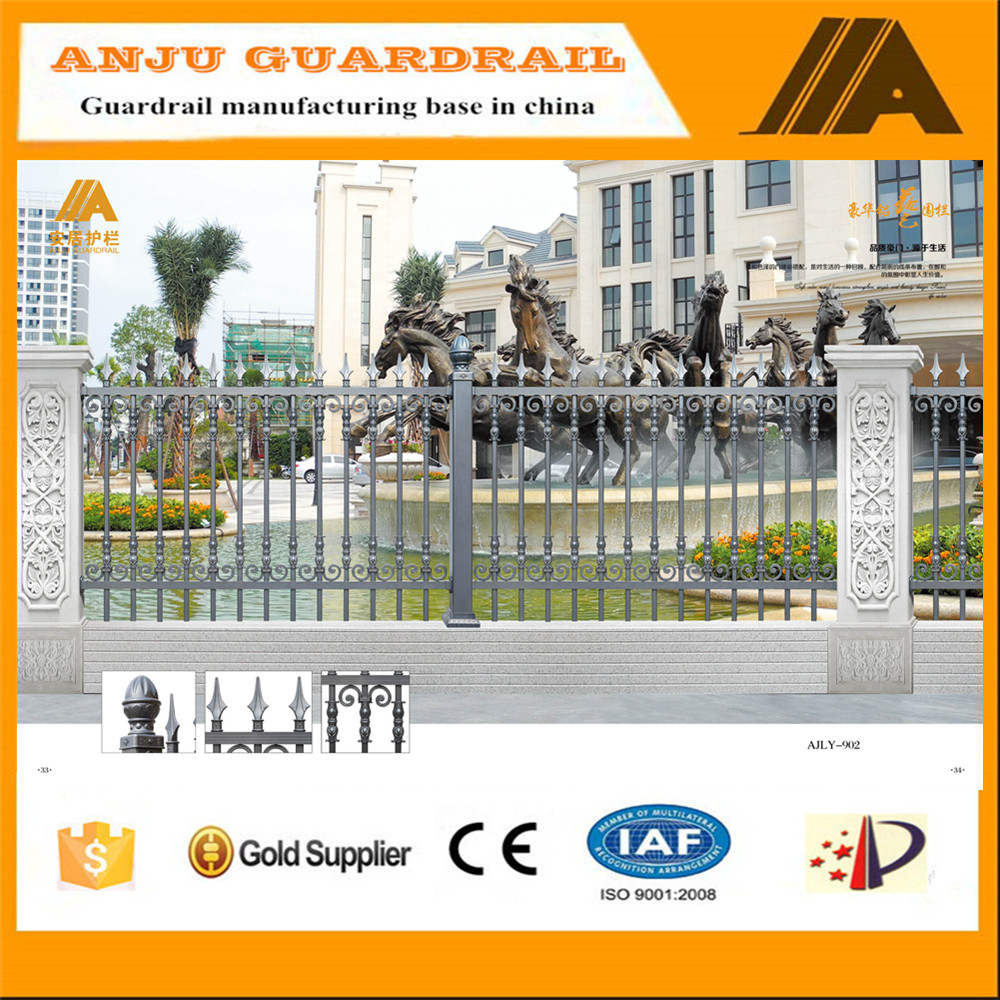 AJLY-902 2016 new professional design garden used aluminum fence