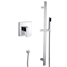 concealed installation bath shower faucet wtih sliding bar