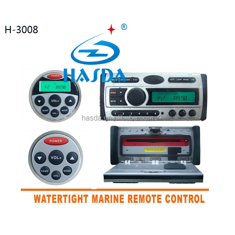 marine car dvd player with cd mp3 remote control for yacht motorcycle car loungh