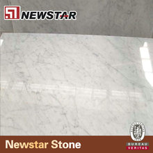 Newstar Bianco Carrara Cheap Prices Custom Size Italian Polished Marble Tiles & Slabs For Flooring And Walling