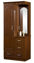 2 doors mirrored PVC wardrobes with dressing table