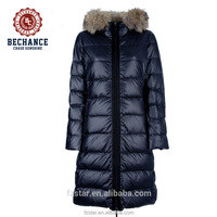 LZ279 100% nylon fashion women down jacket long coat