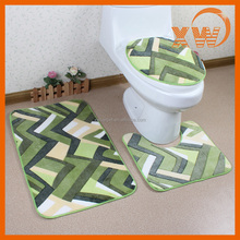 New designs coral fleece accessories washable 3pcs bath mats sets