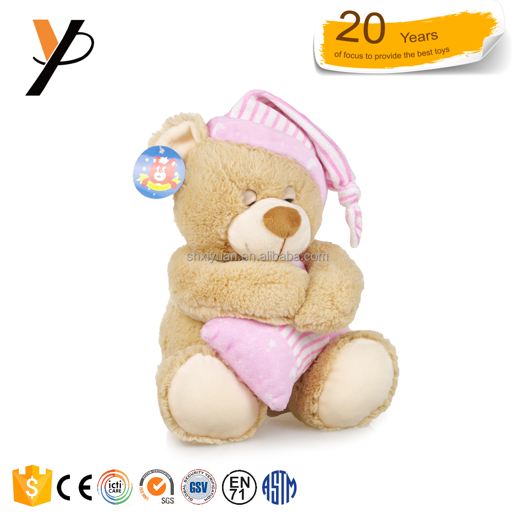 Child toy sleeping cheap stuff bear with pillow